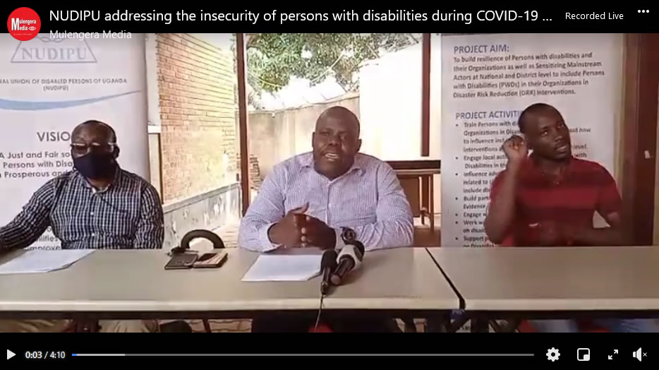 NUDIPU addressing the insecurity of persons with disabilities during COVID-19
