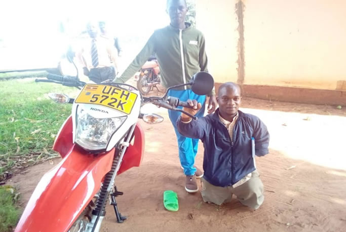 NUDIPU District Unions receive motorcycles that will support in effective implementation of the NUDIPU iSAVE Economic Empowerment Programme.