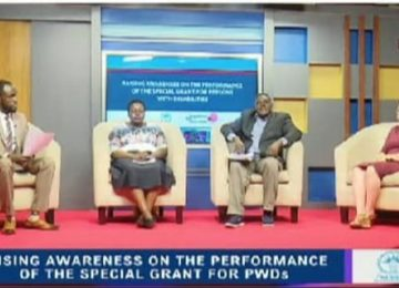 NUDIPU talk show on the performance of the special grant for persons with disabilities in Uganda
